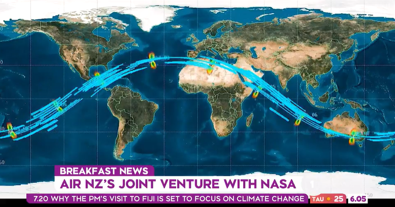 Air NZ teams up with NASA to collect environmental data on domestic flights